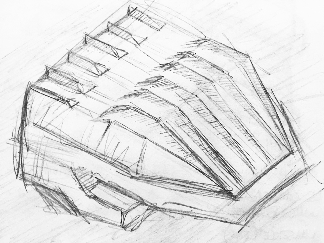 Sketch - Aula of the Technical University in Delft