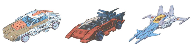 Transformers Headmaster Vehicles