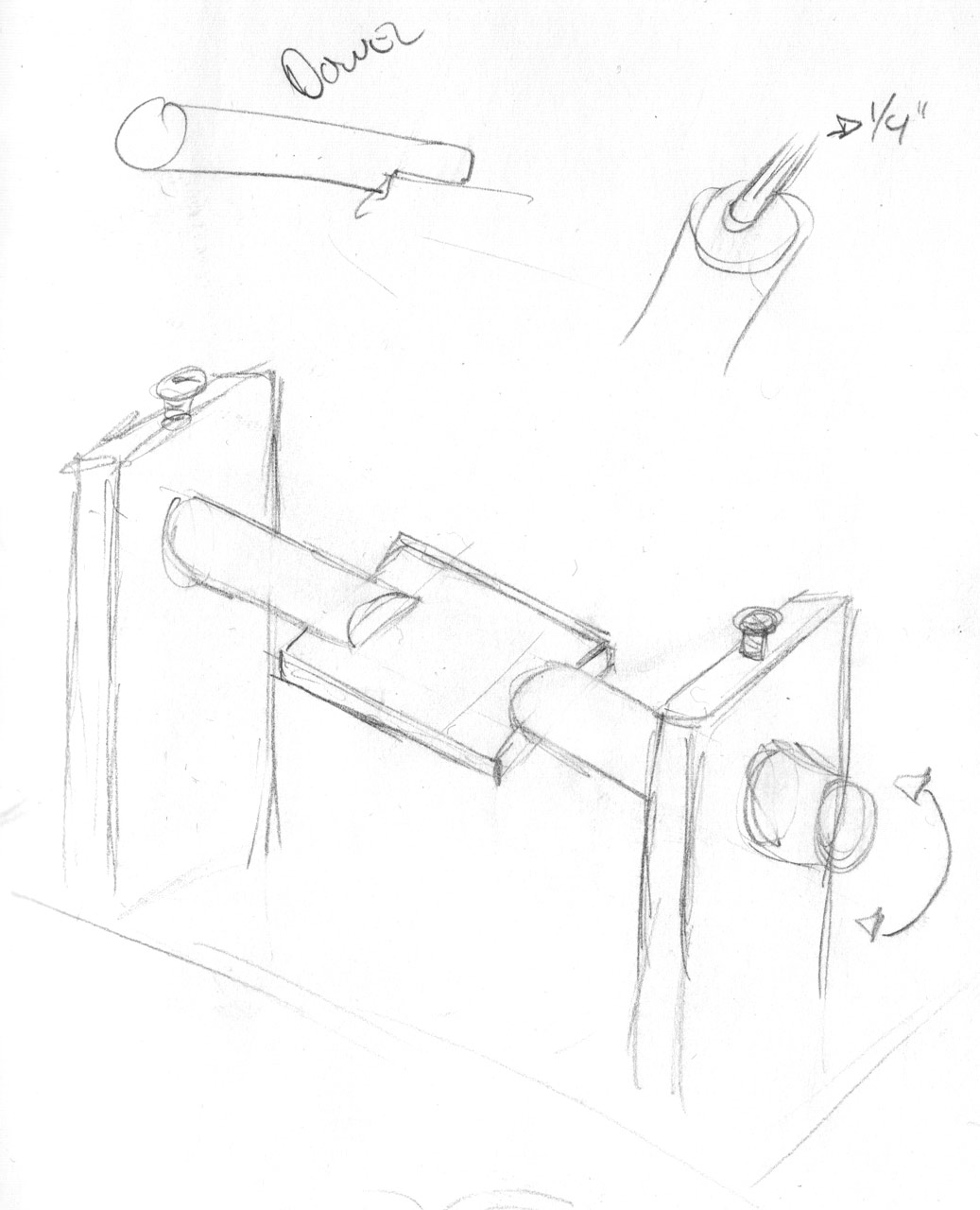 Sketch - Spooling handle