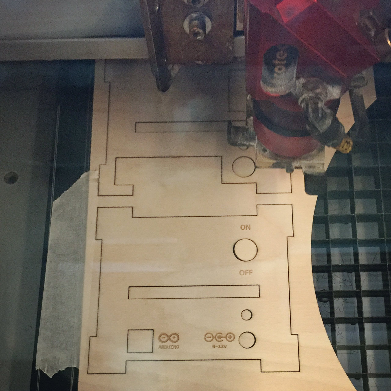 Lasercutting new back panel